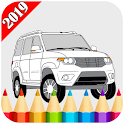 Russian Cars Coloring Book For Kids icon