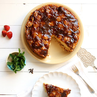 Bolo De Banana (Spiced banana upside down cake).
