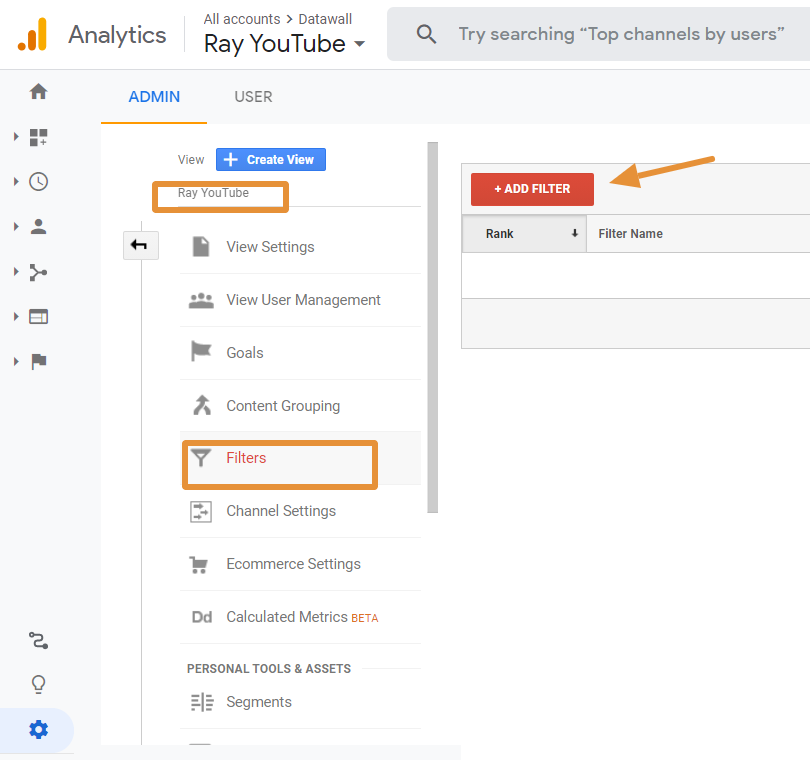 how to connect your YouTube channel to Google Analytics step 4