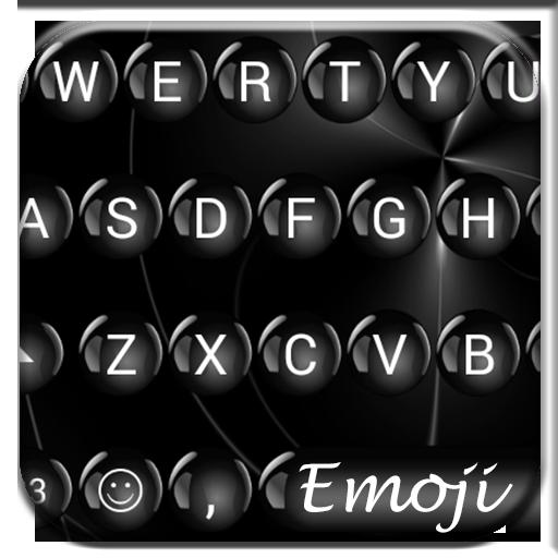 Spheres Black Emoji Keyboard