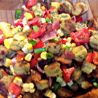 Oven Fried Okra Salad