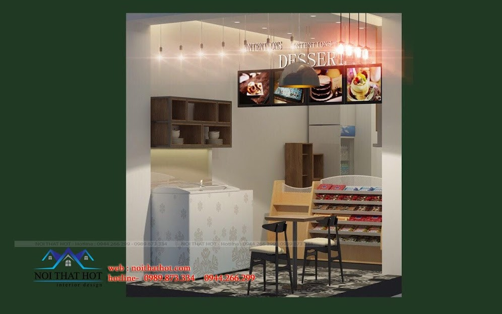 thiết kế quán ăn nhanh đơn giản