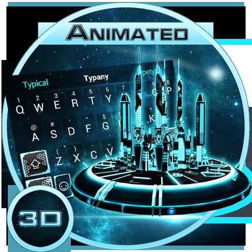 3D Space Galaxy Theme&Emoji Keyboard