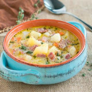 Instant Pot Ham and Potato Soup.