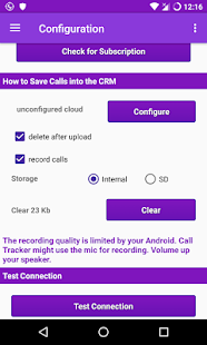 Call Tracker for MS Dynamics CRM- screenshot thumbnail