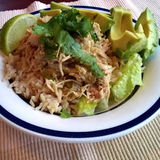 The Best Tomatillo Chicken In The Slow-cooker For Tacos And Burritos.
