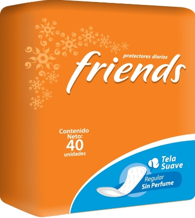 protector diario friends sin fragancia 40und Friends