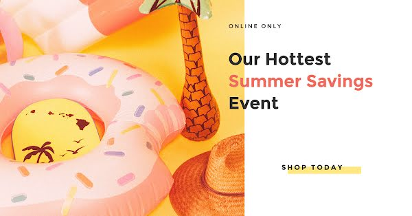 Summer Savings Event - Facebook Event Cover Template