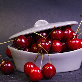 Cherry casserole ... by Joseph Muller - Food & Drink Fruits & Vegetables ( cherry, fruit, red, season, summer,  )