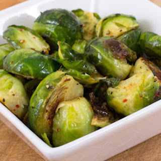 Cider-Braised Brussels Sprouts.