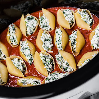 Stuffed Shells with Spinach.