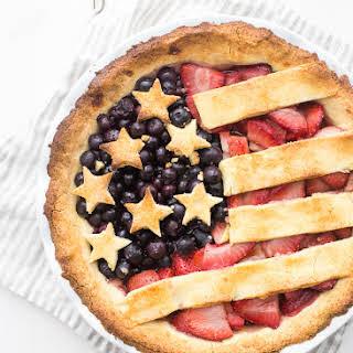 Paleo American Flag Pie (Grain Free, Gluten Free, Refined Sugar Free, Dairy Free).