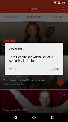 LiveList -Live Stream Concerts - screenshot