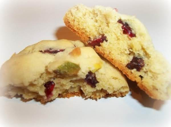 Cranberry, Coconut, Pistachio Cookies