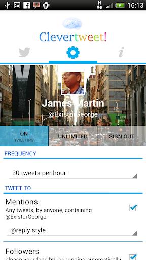 Clevertweet screenshot 1