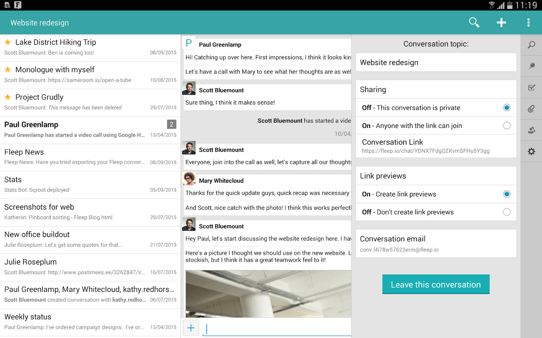 Fleep- screenshot