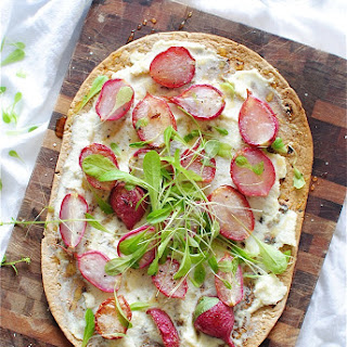 Roasted Radish Flatbread with Ricotta and Honey