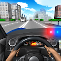 Police Driving In Car icon