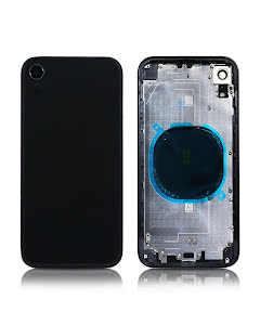 iPhone XR Back Housing without logo High Quality Space Gray