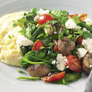 Soft Polenta with Mushroom and Feta