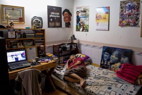 Căn phòng vỏn vẹn 15m2 của nghệ sĩ Mạc Can