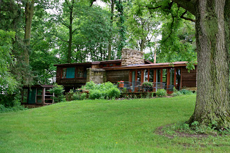 Photo: one of the small cottages for the Taliesin Fellows