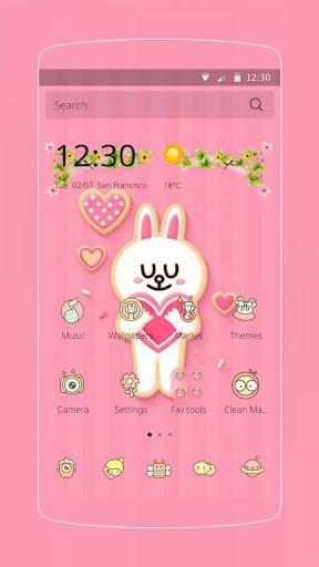 ピンクの愛のウサギ