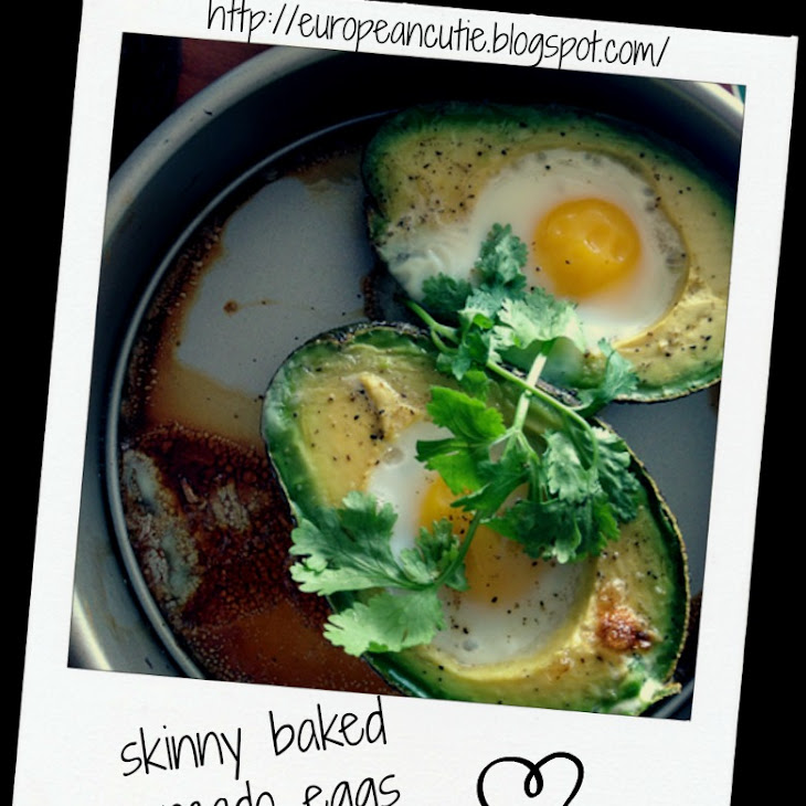 Skinny Baked Avocado Eggs Recipe