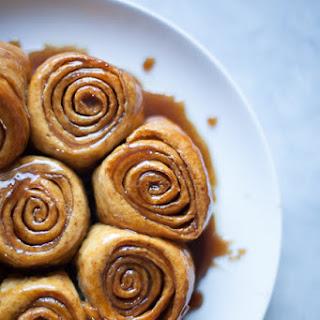 Caramel Cinnamon Bun Bread Pudding