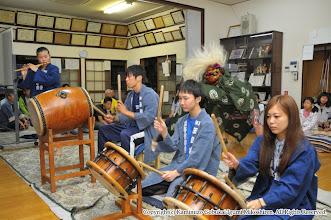 Photo: 【平成24年(2012) 太鼓開き】  囃子保存会青年部による叩き初め。
