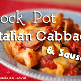 Crock Pot Italian Sausage and Cabbage