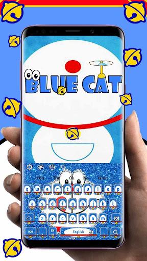 Kawaii Blue Cat Diamond Keyboard 10001001 screenshots 1