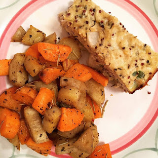 Savory Roasted Sweet Potatoes.