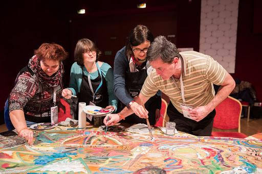 Ateliers peinture animé par Apprentis d'Auteuil et la Fondation Foujita