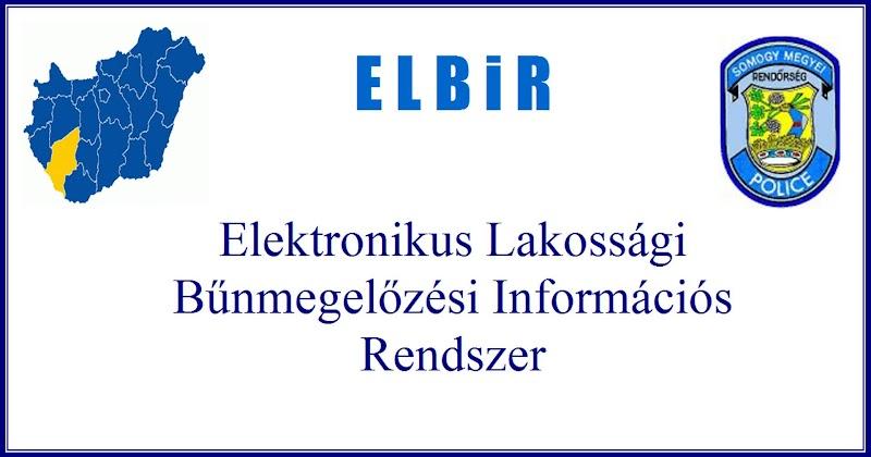 Elektronikus Lakossági Bűnmegelőzési Információs Rendszer 2019. augusztus