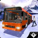 Offroad Snow Tourist Bus Drive icon