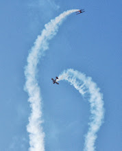 Photo: Pitts Special Formation Aerobatics. Pilots Andrew and Eric Boyd