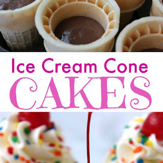 Ice Cream Cone Cakes Recipe!
