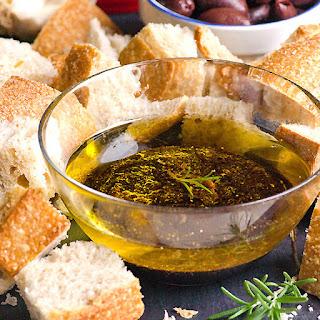 Garlic, Olive Oil and Balsamic Vinegar Dip.