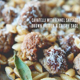 CAVATELLI WITH FENNEL SAUSAGE + BROWN BUTTER + CRISPY SAGE