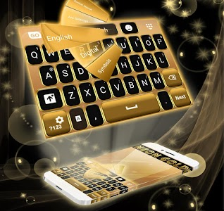 Neon Gold GO Keyboard screenshot 0