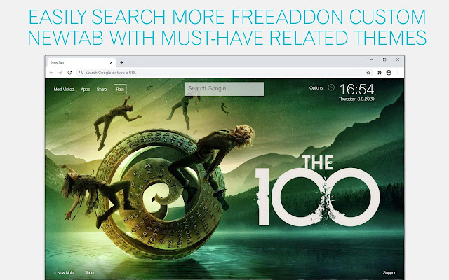 The 100 Wallpaper HD The 100 New Tab