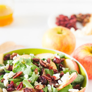 Apple Pecan and Feta Salad with Honey Apple Dressing