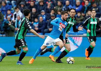 Napoli kwam niet verder dan een 1-1-gelijkspel tegen Sassuolo