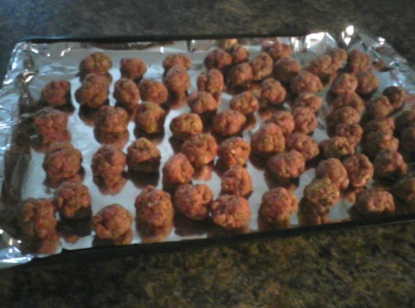 Line 2 cookie sheets with aluminum foil, spray with Pam (no cleanup). Place meat...