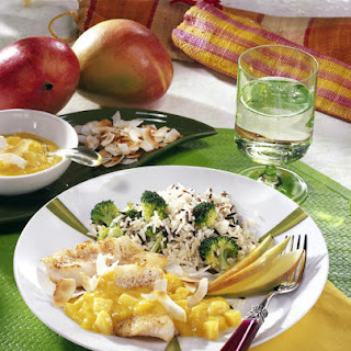 Fish with Coconut-Mango Sauce