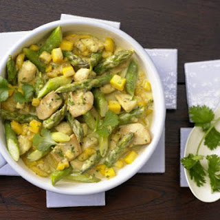 Curried Chicken and Asparagus.