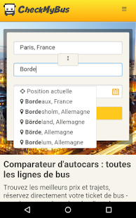 CheckMyBus Comparateur de bus – Vignette de la capture d'écran