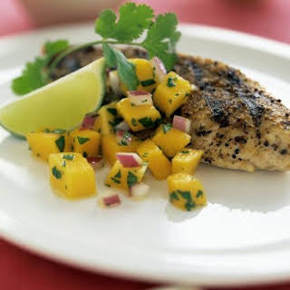 Healthy Chicken with Mango and Lime.