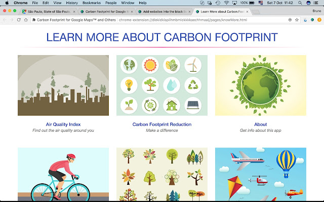 Carbon Footprint For Google Maps And Others